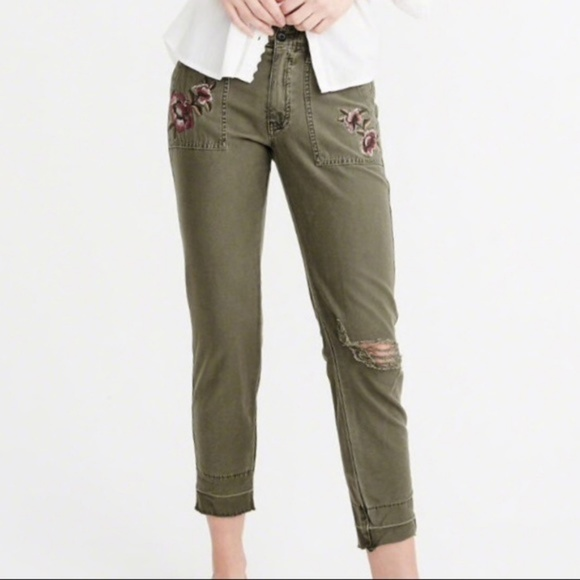 Abercrombie & Fitch Denim - Abercrombie & Fitch Military Slim Boyfriend Jeans